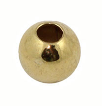 3 mm Gold Plated Round Beads 100 Pcs