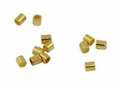 Gold Plated Crimps 2 x 2 1/8 Oz (~200 Crimps)