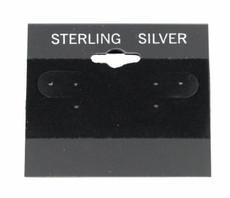 "2"" Black Sterling Earring Cards 100 Pcs"