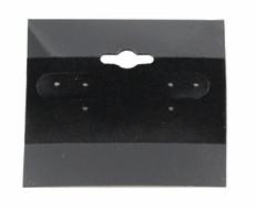 """1.5"""" Black Plain Earring Cards 100 Pcs"""