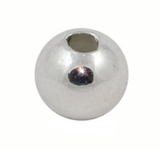 2 mm Silver Plated Round Beads