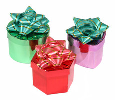 Metallic Big Bow Ring Boxes 48 Pcs