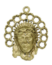 """1 1/8"""" Christ Face with Halo"""