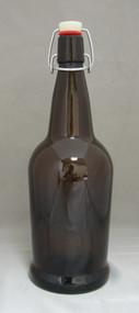 1 Liter Amber E.Z. Cap Bottles 12/Case