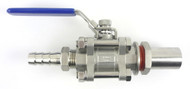 Stainless Steel Weldless Kettle Conversion Ball Valve Assembly