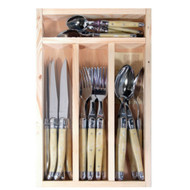 Laguiole 24 piece cutlery set Light Horn by Jean Dubost - the traditional and timeless touch.