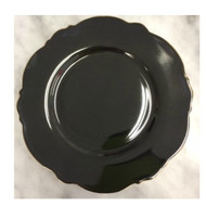 Blue Cadeaux Dessert Plate Set of 2 Black and White - gold edging