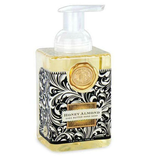Honey Almond scented Foaming hand soap.