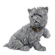 Comyns Sterling Silver:  Filled Dog Figurine - Barkers - Wallace 11cm