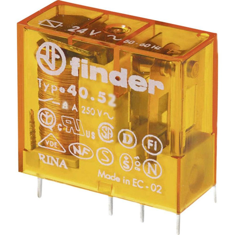 FINDER 40 Series 2Pole 8Pin 8 Amp 220/230V AC Relay