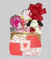 A wonderful combination of sparkle, skin care products from California's Central Coast, and a Valentine plush.  A gift sure to please and warm her heart.