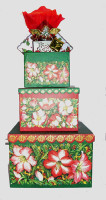 Festive Stacked Gift Boxes Extra Large