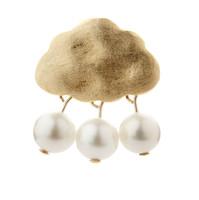 Gold Cloud Pearls Pendant