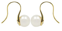 White Akoya Pearls 18ct Gold Earrings