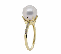 14ct Gold Crown Lilac Pearl Ring