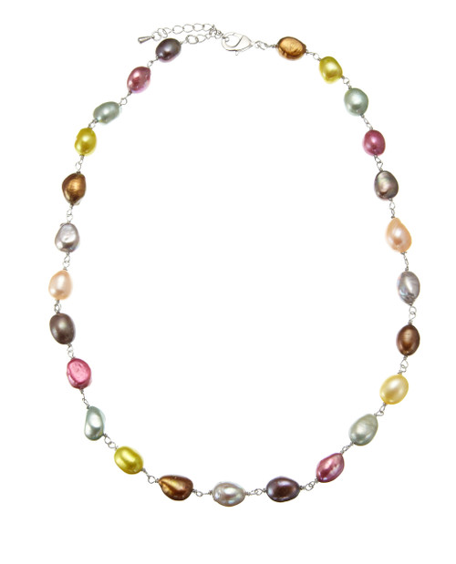 Multicolour Baroque Pearl Necklace