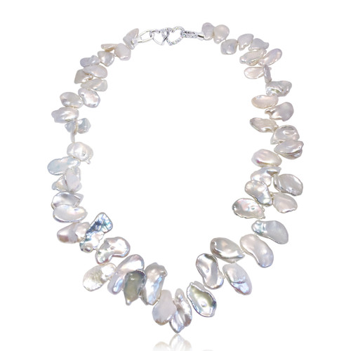 White Keshi Pearl Necklace