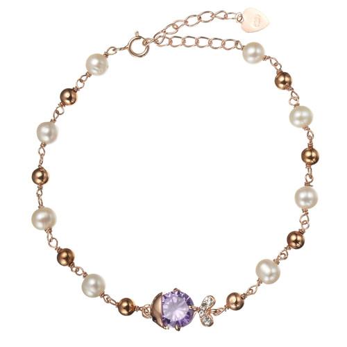 Amethyst Fish Pearl Bracelet