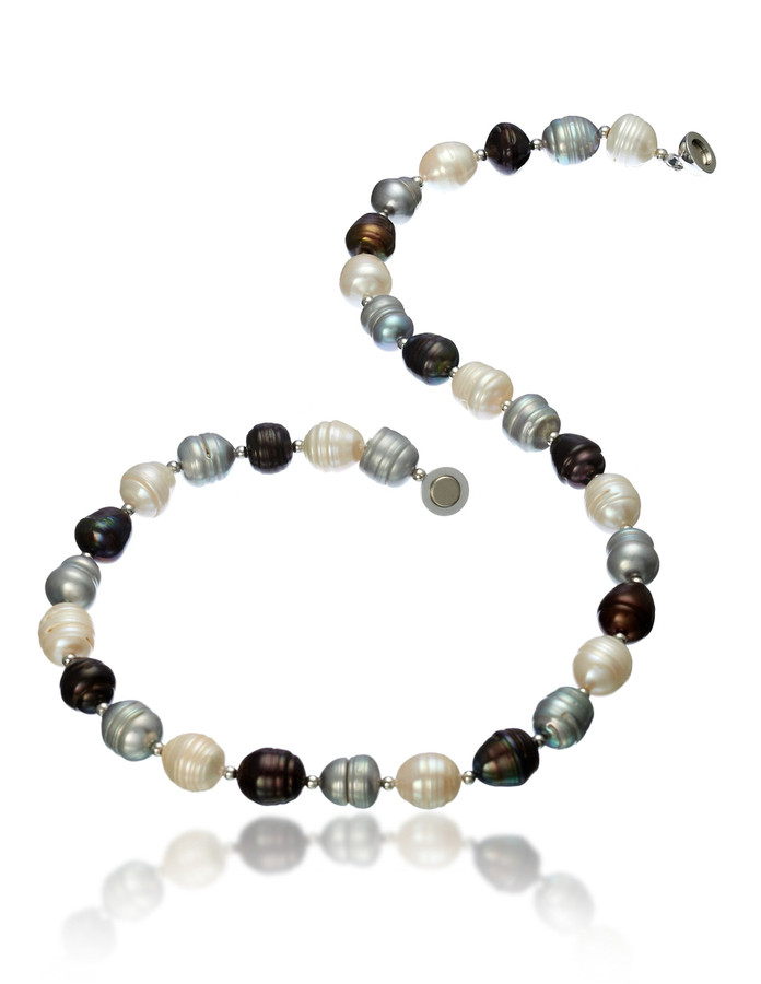 Multicolour Large Irregular Pearl Necklace