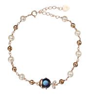 Blue Sapphire Fish Pearl Bracelet