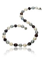 Multicolour Large Irregular Pearl Necklace