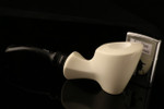 W1094 IMP Meerschaum Pipe - Hand Carved in a fitted CASE
