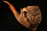 Dragon Eagle's Claw  Meerschaum Pipe by I. Baglan in a fitted case 7572