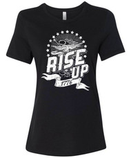 Rise Up 1776 - patriotic, stars and stripes, hamilton graphic t-shirt