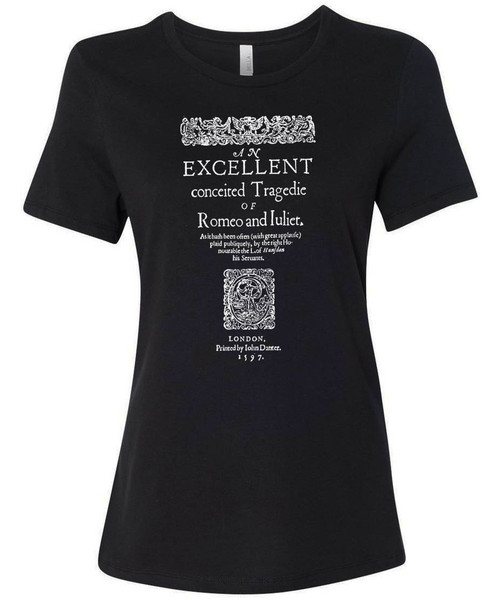 Romeo and Juliet folio reproduction graphic t-shirt.