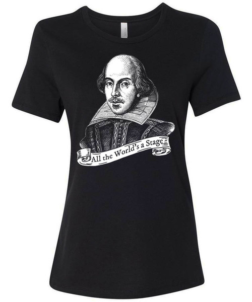 William Shakespeare quote - All the World's a Stage - Women's T-Shirt