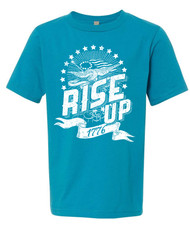 Rise up - boys distressed graphic tee.