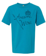 """Awesome Wow"" - King George.  Hamilton distressed graphic tee."
