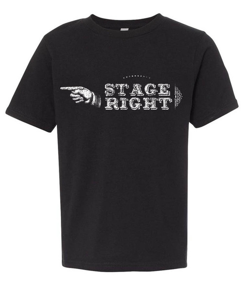 Stage right - just in case you forget.  Distressed print.   Funny rehearsal tee for theatre kids.