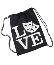 Love theatre canvas drawstring rehearsal bag.