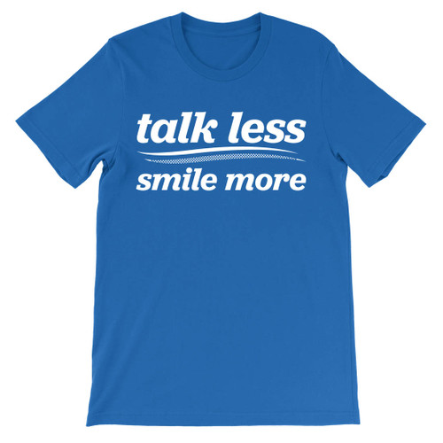 Talk less.  Smile more.  Aaron Burr for President campaign.  Hamilton t-shirt.