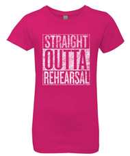 Straight Outta Rehearsal - Raspberry - Girl's Graphic Tee