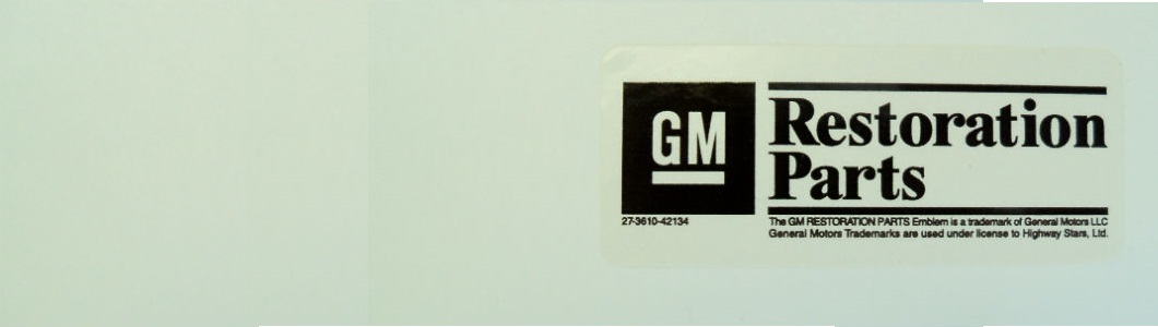 Highway Stars invests in projects using GM tooling and is a authorized GM restoration parts licensee