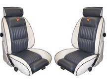 1984 Grand National Lier Siegler Seat covers 2 Front Bucket seats made of Leather and cloth