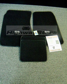 1968-1972 SS Chevelle floor Mats with CORRECT SHAPE 4 pc floor mats GM Licensed