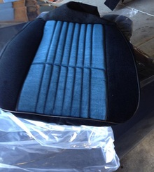 CUSTOM BLUE Buick Regal Turbo T or  T-type seat covers are available through Highway Stars