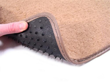 Floor Mats have the nibbed backing to prevent slip