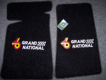 ACC Front floor mats with grand National embroidery sold through Highway Stars