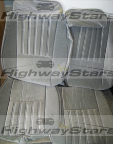 Buick Regal Turbo T or  T-type seat covers made with 2 materials available through Highway Stars