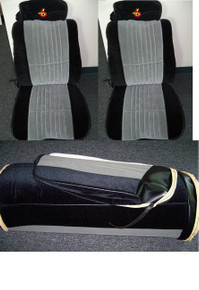 Interior-1985-1987 Grand National Seat covers-Complete Set made w/EXCLUSIVE MATERIAL w/TURBO 6 Headrests