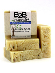 An elegant, beautiful bar of soap. Rich, creamy Shea Butter gives it a dense, moisturizing lather and leaves your skin soft and smooth. Lavender is one of our most popular scents and throughout history has been known to be skin-healing and calming. This bar has a generous amount of Lavender and the sweet floral/herbal fragrance is a delight. Scented with pure Lavender Essential Oil.