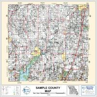 Latimer County Oklahoma 1997 Wall Map