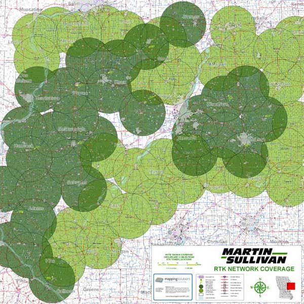 Mapping Solutions Custom Coverage Area Map
