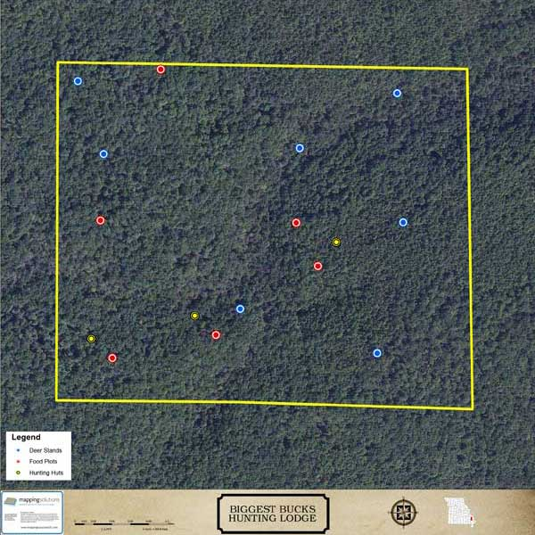 Mapping Solutions Custom Hunting Lodge Map