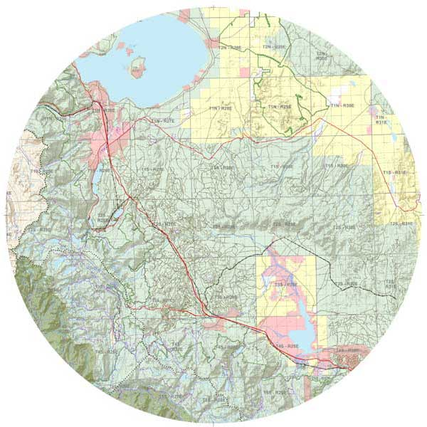 Mapping Solutions Custom Topographical Map