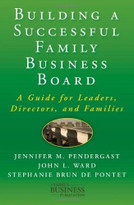 Building a Successful Family Business Board (A Guide for Leaders, Directors, and Families) by Jennifer M. Pendergast, John L. Ward, Stephanie Brun de Pontet, 9780230111547